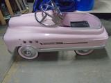Pink Steel Pedal Car