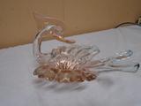 Art Glass Bird Bowl