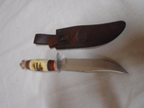 Chipaway Handmade Bowie Knife w/ Leather Sheave