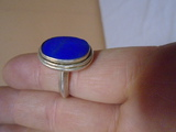 Ladies Sterling Silver Ring w/ Blue Stone