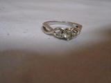Ladies Sterling Silver Ring w/ Stones