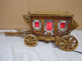 Wooden Stage Coach Light