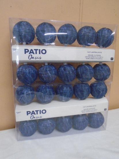 (2) 10 Ct. Sets of Patio Oasis Indoor/Outdoor Lights