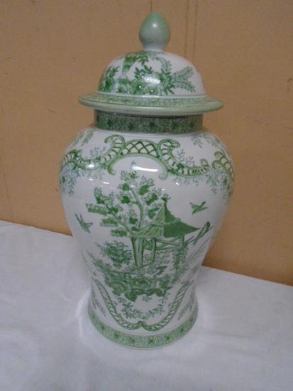 Sadek Oriental Ginger Jar w/Lid