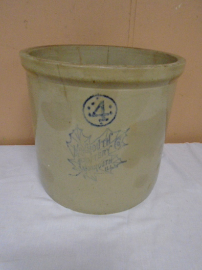 Monmouth Pottery Co. 4 Gallon Crock