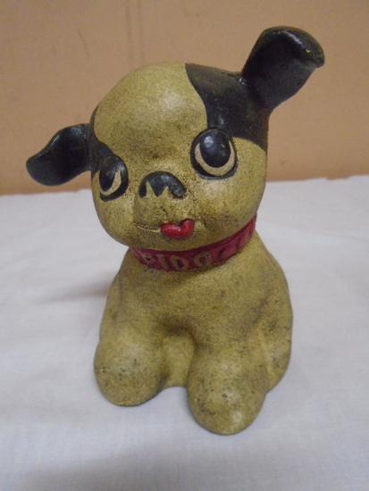"Cast Iron ""Fido"" Dog Bank"