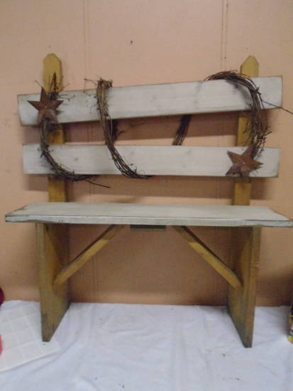 Wooden Country Décor Bench