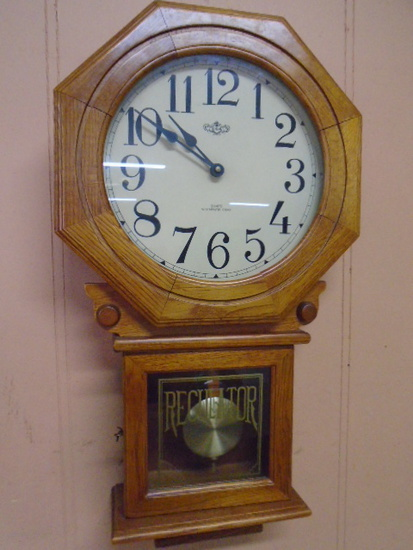 Oak Regulator Wall Clock
