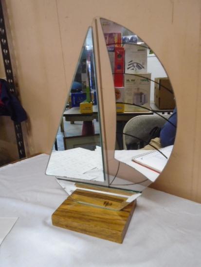 Mirrored Glass Sail Boat