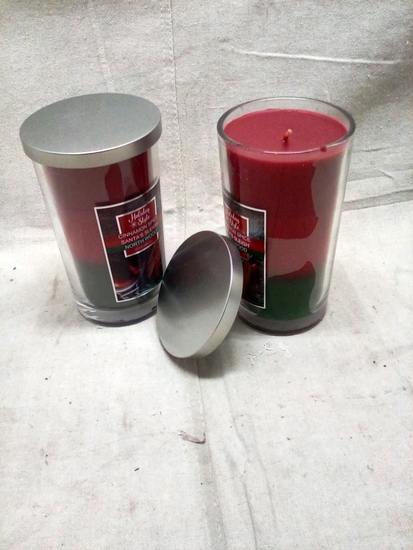 Pair of Cinnamon Spice Scented Candles