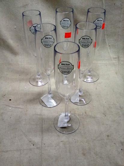 Champagne Flutes BPA Free Shatterproof