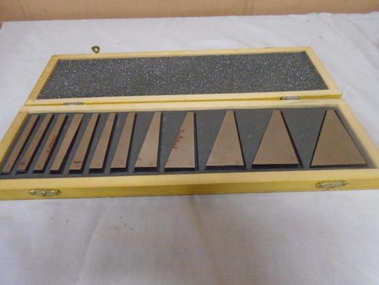 12pc Degree Gauge Block Set In Wood Case