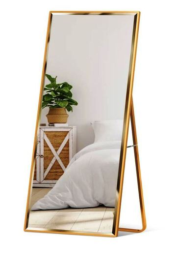 Full Length Mirror, Wall Hanging & Leaning Floor Mirror - 65x22in