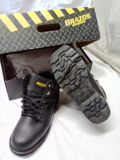 Brazos Black Men's Steel Toe Workboot size 9.5D