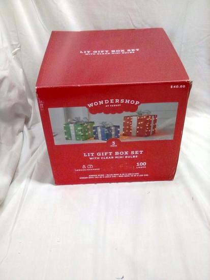 Wondershop 3 piece Lit Gift Box Set
