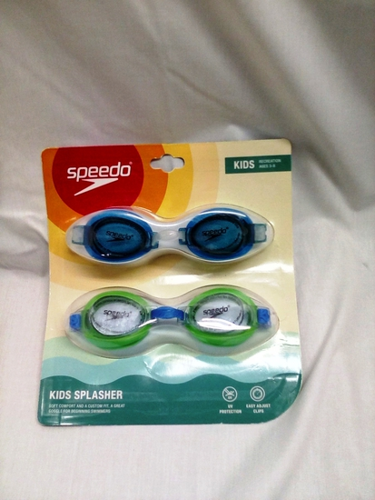 Speedo Twin Pack of Kids Ages 3-8 Swim Goggles