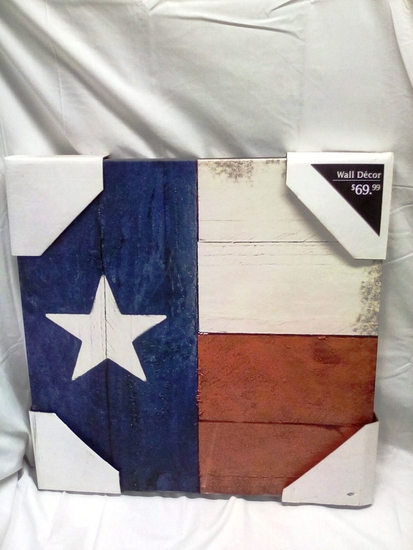 Canvas Texas State Flag Hanging Art Piece