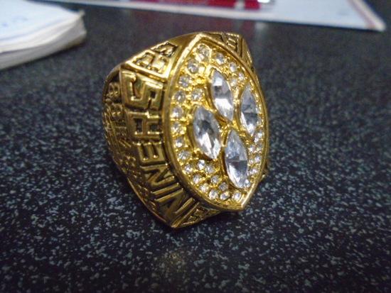 49er's Back to Back Joe Montana  Reproduction Super Bowl Ring