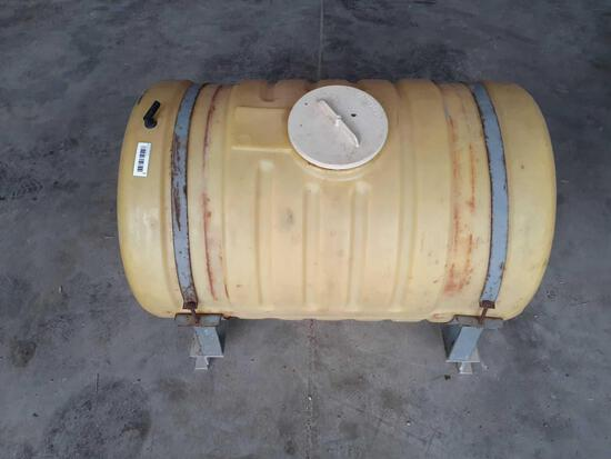 50 gallon poly tank on aluminum frame