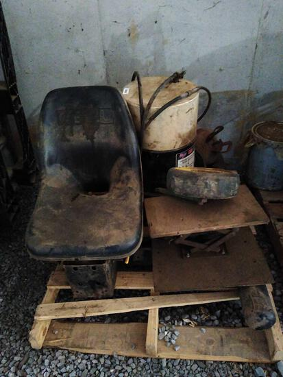 Skid lot with Gehl seat, air grease system, front mount tractor bumper