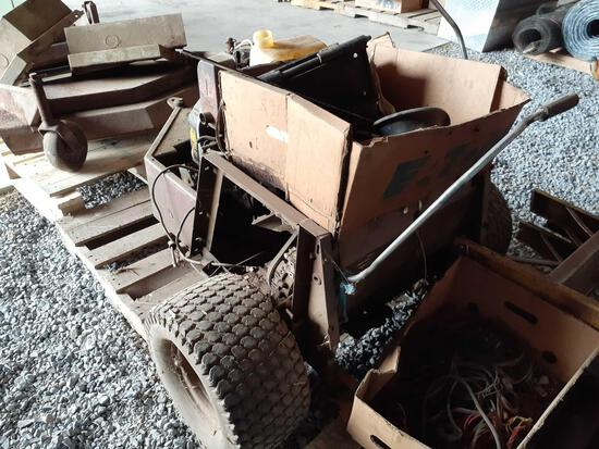 Grasshopper lawn mower parts unit with diesel engine and two mower decks