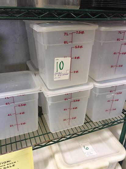 Cambro 8 quart containers with lids
