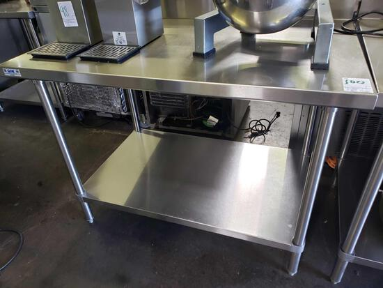 48 in. All Stainless Steel Table w/Backsplash