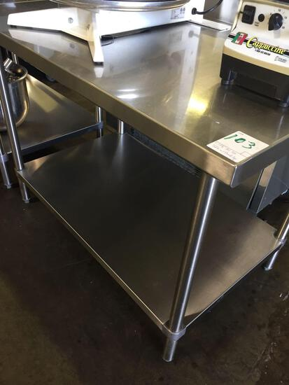 48 in. all stainless steel worktable
