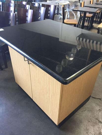 34 x 44 in. Formica cabinet w/ Black Corian top