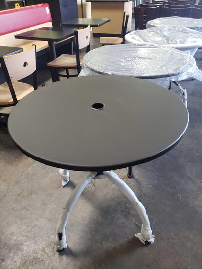 New 30 in. Round Metal Patio Tables