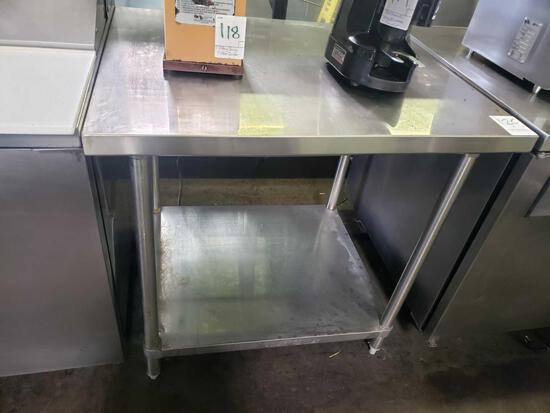 30 in. Stainless Steel Table