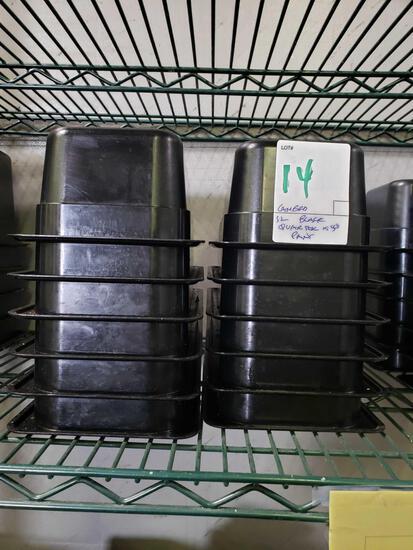 Cambro Black 1/4 x 4 in. Plastic Pans