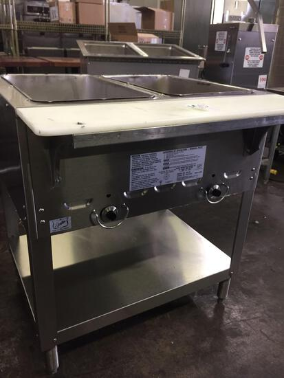Duke 2 pan gas steam table