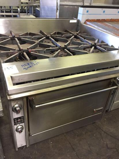 Jade 6 Open Burner range w/convection oven & electronic ignition