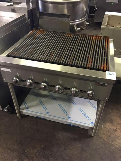 Jade range 36 in. Radiant charbroiler on stand