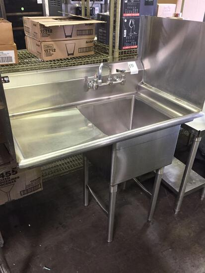 Stainless steel prep sink