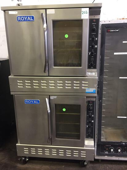 Royal double gas convection oven