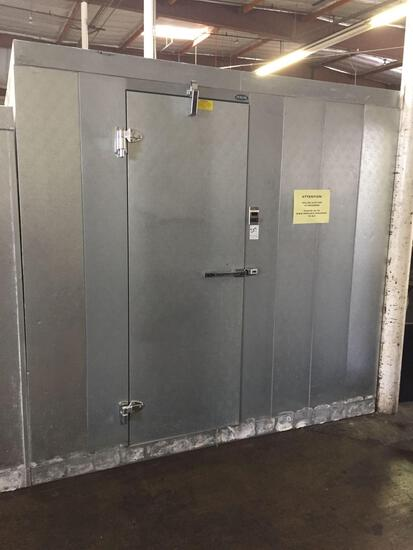8 ft x 14 ft x 92 in. high self contained walk-in cooler with-floor