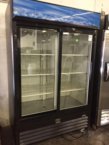Kelvinator 2 sliding glass door refrigerator