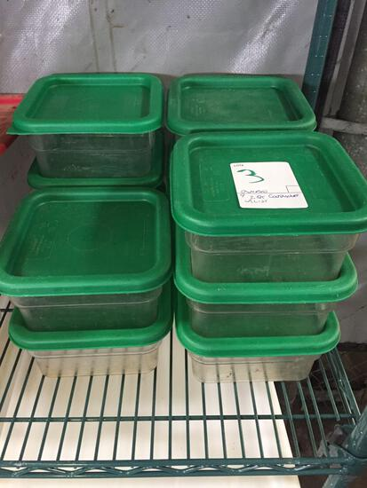Cambro 2 quart containers with lids