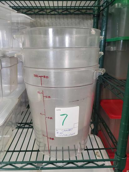 Cambro 8 qt. Round Containers