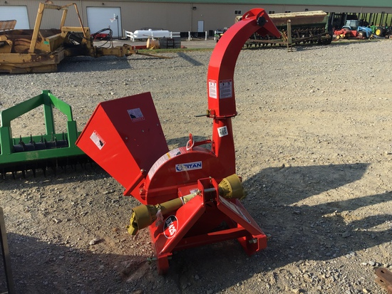 UNUSED 3PT HITCH RED CHIPPER