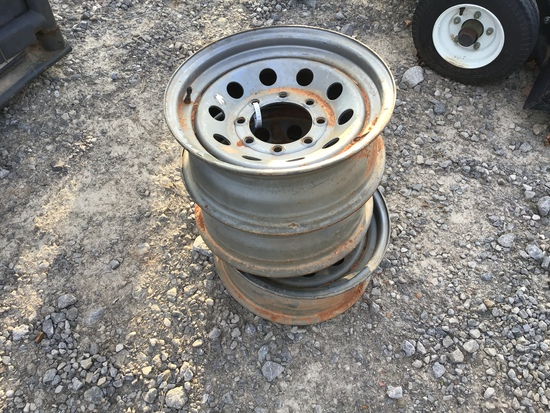 (3) 8 LUG TRAILER RIMS (ALL FOR ONE PRICE)