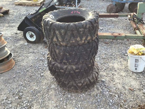 (4) 28.5/10/14 FOUR WHEELER TIRES (ALL FOR ONE PRICE)
