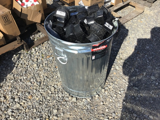 NEW GARBAGE CAN W/ MISC ITEMS