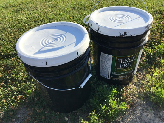 (2) 5 GAL OF FENCE PAINT