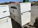 WHITE ROLL-AROUND TOOL BOX