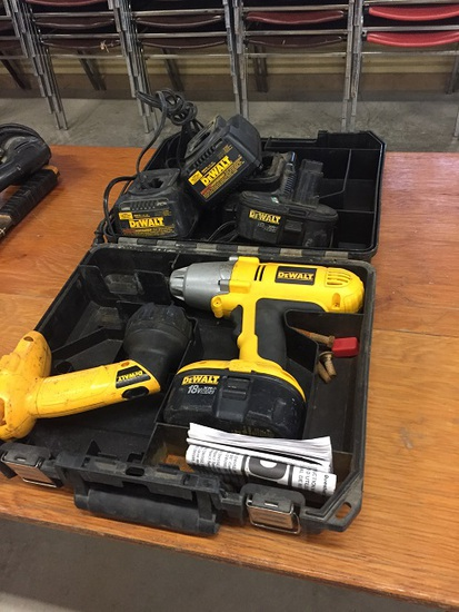 DEWALT IMPACT, BATTERIES AND CHARGERS