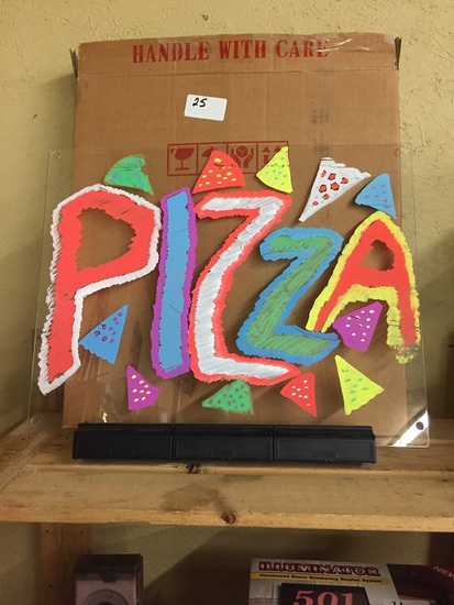 LIGHTED PIZZA SIGN