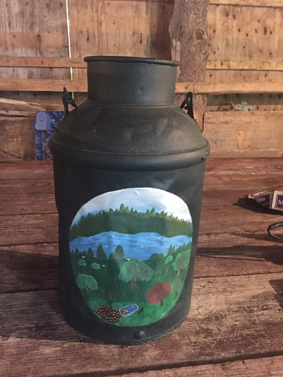 PAINTED CREAM CAN